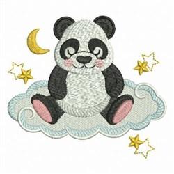 Good Night Panda embroidery design
