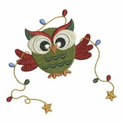 Xmas Owl embroidery design