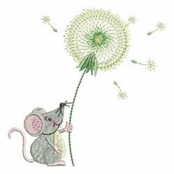 Dandelion Mouse embroidery design