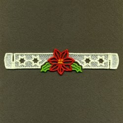 FSL Poinsettia Napkin Ring embroidery design