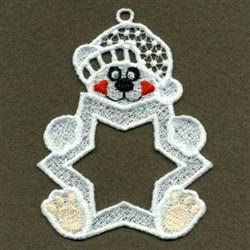 FSL Bear Photo Ornament embroidery design