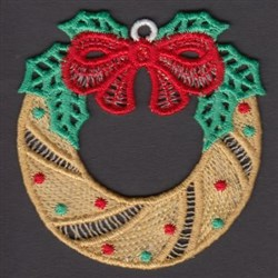 FSL Xmas Wreath embroidery design
