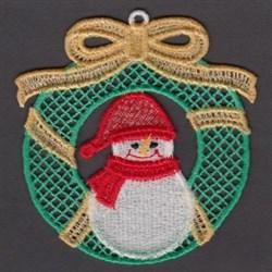 FSL Snowman Wreath embroidery design