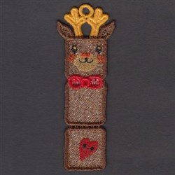 FSL Reindeer Bookmark embroidery design