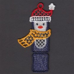 FSL Penguin Bookmark embroidery design