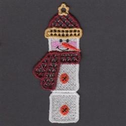 FSL Snowman Bookmark embroidery design
