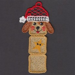 FSL Dog Bookmark embroidery design