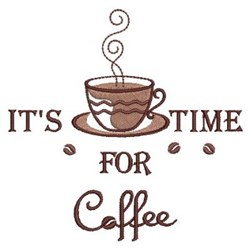 Time For Coffee embroidery design