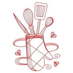 Redwork Kitchen embroidery design