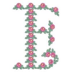 Love Alphabet E embroidery design