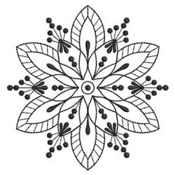 Blackwork Quilt Star embroidery design