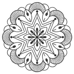 Blackwork Quilt Circle embroidery design