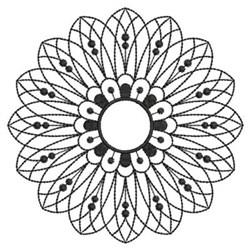 Blackwork Spiral Quilt embroidery design