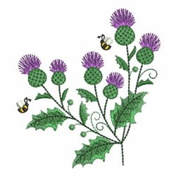Thistles embroidery design