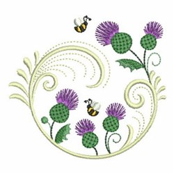 Thistle Swirl embroidery design