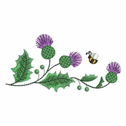 Thistle & Bee embroidery design