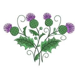 Scotland Thistle embroidery design