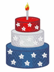 Patriotic Cake embroidery design