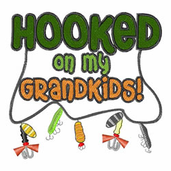 Hooked On My Grandkids embroidery design