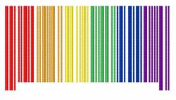 Rainbow Bar Code embroidery design