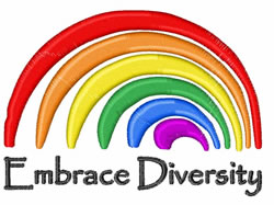 Embrace Diversity embroidery design
