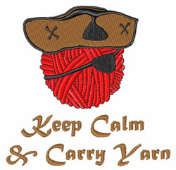 Keep Calm Carry Yarn embroidery design