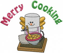 Merry Cooking embroidery design
