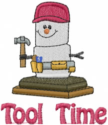 Tool Time embroidery design