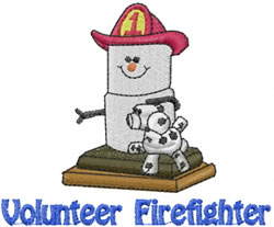 Volunteer Firefighter embroidery design