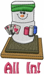Poker All In embroidery design