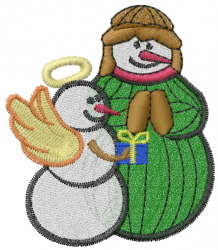 Snowman Baby Jesus embroidery design
