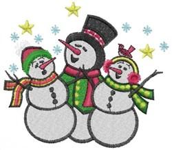 Singing Snowmen embroidery design