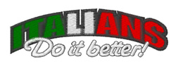 Italians Do It Better embroidery design