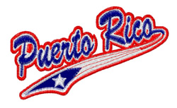 Puerto Rico embroidery design