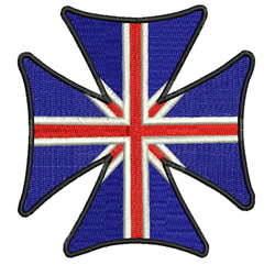 UK Cross embroidery design
