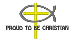 Proud Christian embroidery design