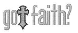 Got Faith embroidery design