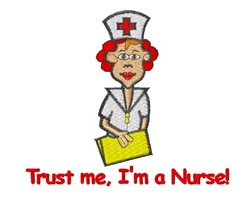 Nurse Trust embroidery design