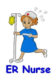 ER Nurse embroidery design