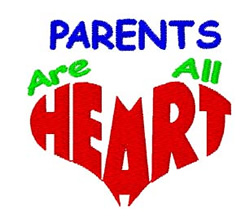 Parents are HEART embroidery design