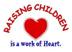Raising Children embroidery design