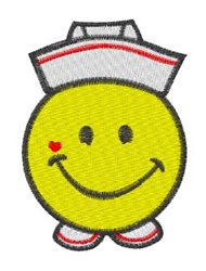 Nurse Smiley embroidery design