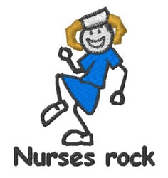Nurses Rock embroidery design