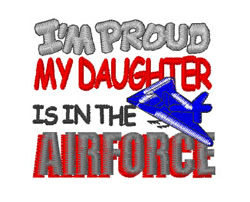 Air Force Daughter embroidery design