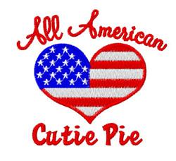 American Cutie Pie embroidery design