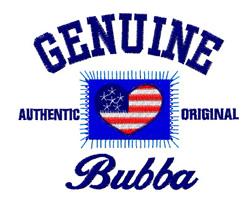 Genuine Bubba embroidery design