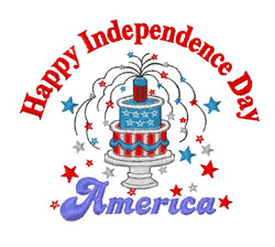 Happy Independence Day embroidery design