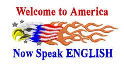 USA Speak English embroidery design