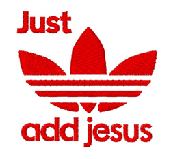 Just Add Jesus embroidery design