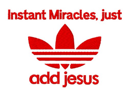 Add Jesus Miracles embroidery design